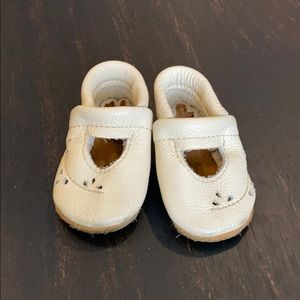 Starry knight design baby moccasins